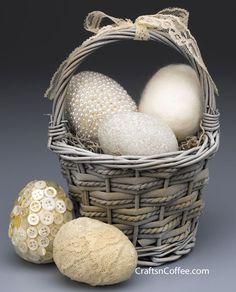Vintage Easter egg craft ideas