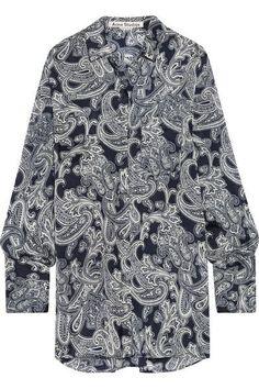 Acne Studios - Bai Printed Chiffon Shirt - Navy - FR32