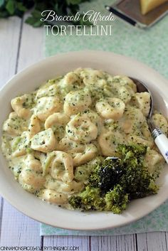 Broccoli Alfredo Tortellini #dinnerrecipes by CinnamonKitchn, via Flickr