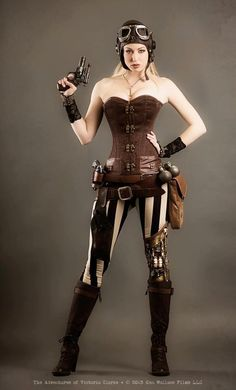 #Steampunk Tendencies |Steampunk-inspired web series project, : The Adventures of Victoria Clarke http://steampunktendencies.tumblr.com/post/48207316666/steampunk-tendencies-corset-sexy-girl-victoria-clarke