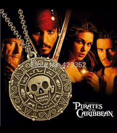 Pirates Of The Caribbean Aztec Gold Coin Necklace Medallion