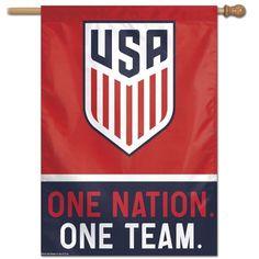 aec1977ccf2 US Soccer Flag One Nation One Team House Banner