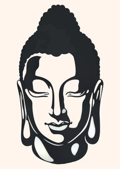 buddha silhouette | ... Indian ink Buddha silhouette with ...