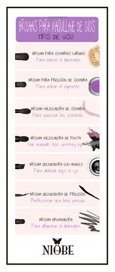 Brochas para maquillaje de ojos