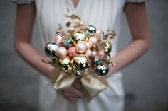 unexpected and unforgettable: a bulb bouquet for a wedding around the holidays.