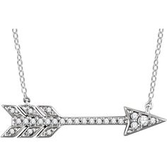 14KT 1/10 CTW DIAMOND ARROW NECKLACE  Specifications      White or Rose  Weight:	0.83 DWT (1.29 grams) Chain Style:	Cable Clasp Type:	Spring Ring Rhodium Plated:	Y Plating Type:	Rhodium-Plated Surface Finish:	Polished Primary Stone Type:	Diamond Primary Stone Shape:	Round Diamond CTW:	1/10 Jewelry Material Type1:	Gold Metal Purity1:	 14K