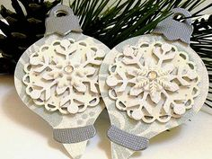 Christmas Snowflake ORNAMENT Gift Tags 3 by smatsunaka on Etsy, $3.50