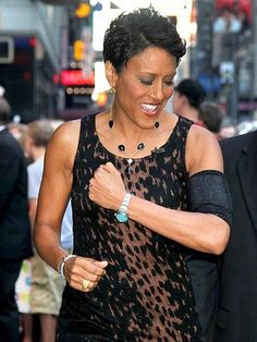 """Stay strong Robin.  We are all praying for you!  Shown in 'Black Diamonds"""" PICC Cover Fashions TM arm band sleeve by CastCoverFashions. June 21, 2012. NYC."""