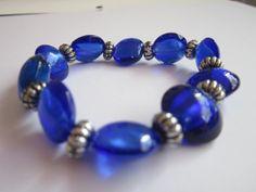 Blue Cat's Eye Glass Bead Bracelet with by BeadazzlingButterfly, $19.00