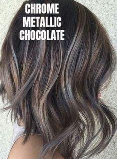Hair color highlights bob curls 15 new ideas - Hair - Hair Color Hair Color Ideas For Brunettes Balayage, Gray Hair Highlights, Colored Highlights, Hair Color Balayage, Bob Hair Color, Bayalage, Highlights For Brunettes, Brown Hair With Silver Highlights, Ashy Brown Hair Balayage