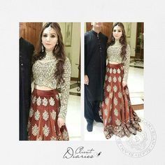 """""""Aleena Azam absolutely picture perfect in Élan's customised lengha choli from our latest #bridal collection, The Jasmine Court #élangirls #classic…"""""""