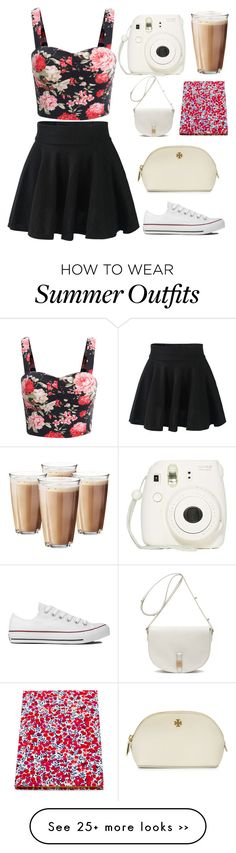 How to wear summer outfits regerding to Polyvore: U need Iced Coffee, Instax and a bunch of bags xD