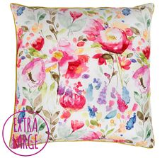 Devon Floor Cushion, Bluebellgrey £220.00Peony Hydrangeas in Bowl, John Lewis £175.00 #eatsleeplive #interiors #flowers