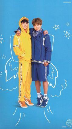 Jungkook and Jimin  short Jimin tall Jungkook...