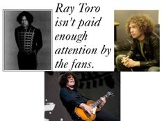 I think Ray Toro is amazing and extremely talented,but totally under appreciated! We love you and all of your fro-power Ray!
