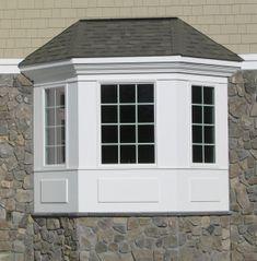 Angles Of Bay Window Roof | Closeup Details Of Custom Bay Window Trim,  Crown Molding