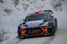 Daniel Sordo of Spain and Marc Marti of Spain compete in their Hyundai Motorsport WRT Hyundai i20 coupè WRC during Day Three of the WRC Monte-Carlo on January 21, 2017 in Gap, France.