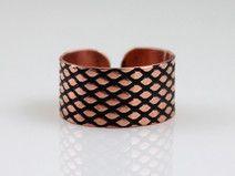 Fish scale - copper ring