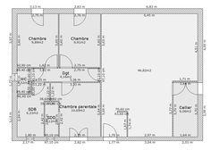 plan maison plain pied 80m2 2 chambres   plan de maison