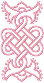Celtic free embroidery design. Machine embroidery design. www.embroideres.com