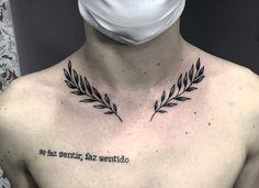 Acab Tattoo, Collar Tattoo, Clavicle Tattoo, Bone Tattoos, Badass Tattoos, Leg Tattoos, Black Tattoos, Collar Bone Tattoo For Men, Tatoos
