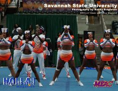 Savannah State University.  See more MEAC Cheerleading Competition pictures at www.hollacheerdancemagazine.com