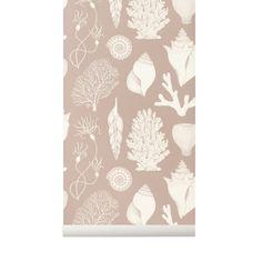 Tapeta Muszle - Shells Dusty Rose - Katie Scott - ferm Living | sklep Mukaki Teen Kids, Dusty Rose, Shells, Design, Conch Shells, Dusty Pink, Conchas De Mar, Sea Shells, Seashells