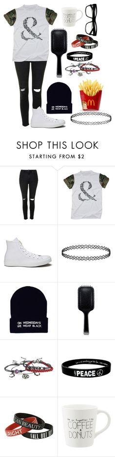 """""""Touched up my roots today 👌"""" by xxghostlygracexx ❤ liked on Polyvore featuring Topshop, Converse, GHD and Retrò"""