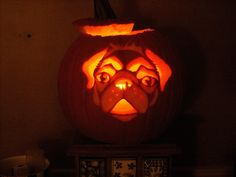 Puggy Happy Halloween..I would carve a pumkin if I could get this.