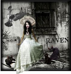 "Digital Art by *Silkku* ""Raven"" silkkus.blogspot.fi"