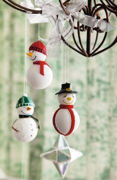 Decoração com bonecos de neve / DIY, craft