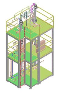 EPIC Systems combines design, engineering, fabrication and integration to a single point of project responsibility. We take your distillation column technology and model it for separation feasibility at desired production rates. Addressing the challenges of distillation column scale-up and design during this modeling phase requires minimal investment and results in a firm system design and price, for a determined achievable degree of separation.