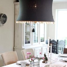 Dining Fixture.. <3 the button trim