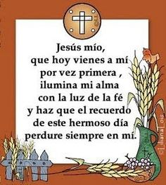 TODO RELIGIÓN: Frases para 1ª Comunión. Communion Centerpieces, First Communion Decorations, First Communion Favors, First Holy Communion, Catholic Communion, Première Communion, Ideas Para Fiestas, Christian Quotes, Party Planning