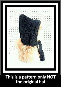 Crochet Pattern Womens Crochet Hat Pattern Crochet Hood Pattern Crochet Pixie Hat Pattern MAIDEN by strawberrycouture on Etsy  Crochet Pattern Womens Crochet Hat Pattern Crochet Hood Pattern Crochet Pixie Hat Pattern MAIDEN 5.00 USD by #strawberrycouture on #Etsy  MUST SEE! http://ift.tt/1J4TBqd (Unique Womens Crochet & Knit Hats Scarves Patterns) Strawberry Couture on Etsy is about having fun with a crochet hook and knitting needles for women to wear unique crochet & knit hats scarf…