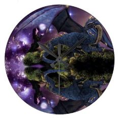 Reflections of a Dragon Pool Wall Clock
