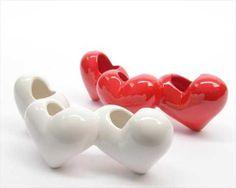 vaso cuore in porcellana