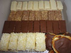 Mixed box of patisserie deserts