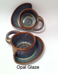Soup and Cracker Bowl Stoneware Pottery by Hertzpottery on Etsy