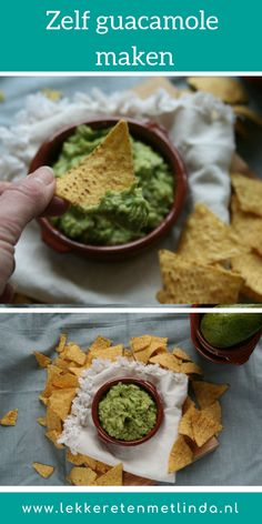 Make your own guacamole - Good food with Linda - a - lekker eten Homemade Guacamole, Guacamole Recipe, Barbecue, Cooking Recipes, Healthy Recipes, Healthy Food, Love Food, Tapas, Cravings