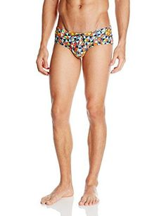 Mundo Unico Mens Playa Nao Swim Brief Multi Large ** Be sure to check out this awesome product.