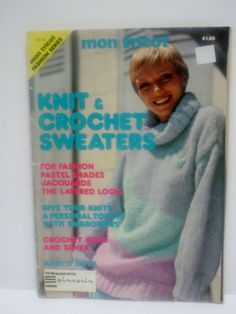 Vintage Knitting and Crochet Pattern Magazine  Mon by RaeOfLight, $3.00
