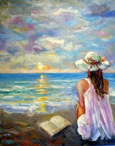 pinturas al oleo marinas ile ilgili görsel sonucu Painting People, Fine Art, Beach Art, Beautiful Paintings, Painting Inspiration, Art Pictures, Painting & Drawing, Watercolor Paintings, Portrait Paintings