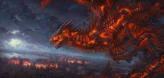 What type of dragon is that? - Art by Kerem Beyit - also on Artstation. Fantasy Dragon, Dragon Art, Free Photoshop, Photoshop Brushes, Fantasy Creatures, Mythical Creatures, Dark Fantasy, Fantasy Art, Types Of Dragons