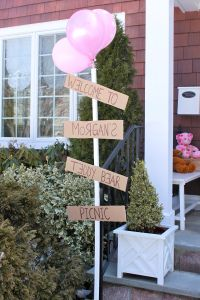 Teddy Bear Picnic Party- Welcome Sign
