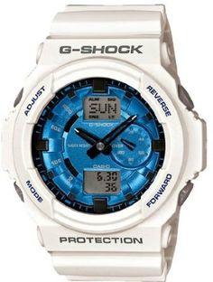 G-Shock GA-150 Watch - White / Blue