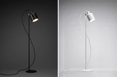 note design studio: silo trio pendant lights + silo floor lamps for zero