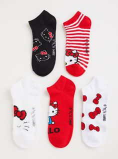 92d9ddf9db Hello Kitty Fuzzy Sock - Pack of 5