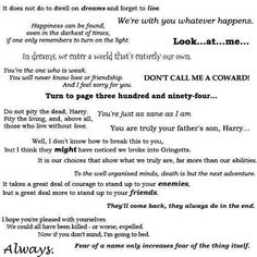 My favourite Harry Potter quotes