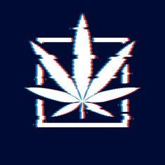 Marijuana glitch poster. cannabis leaf a... | Premium Vector #Freepik #vector #logo #leaf #square #pixel Leaf Illustration, Medical Illustration, Green Leaf Background, Background Patterns, Hemp Leaf, Vintage Medical, Leaf Logo, Vintage Logo Design